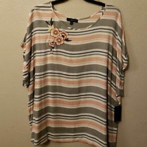 Womens 3x top by fred David plus size nwt